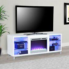 "Lumina Fireplace TV Stand for TVs upto 70"", White"
