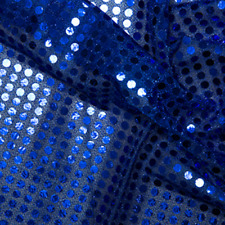 6mm Sequin Jersey Shiny Sparkly Material Nylon Fabric Fancy Dress Metallic