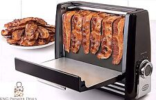 Bacon Express Cooker Toaster in Black - Crisper Healthier Cooking!