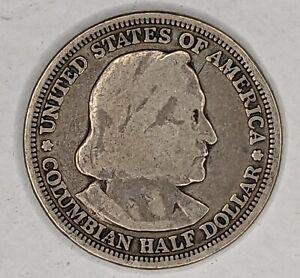 1893 Columbian Half Dollar 90% Silver 185722D