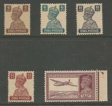 INDIA SG273-7 THE 1940 GVI 5 TOP VALUES MNH CAT £35+