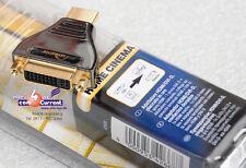 Qualità professionale HI-FI DVI HDMI DVI DVI-D Adattatore HD-Pro 24k CONTATTI ORO NUOVO NEW