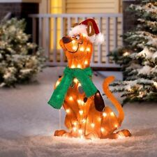 Outdoor Lighted Scooby Doo Christmas Decoration Sculpture Holiday Yard Decor