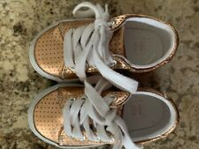 Janie and Jack toddler girls size 6 rose gold sneakers