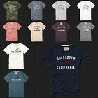 NWT HOLLISTER Printed And Applique Logo Graphic Men T Shirt Tee By Abercrombi​e