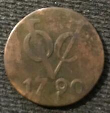 1790 VOC DUTCH DUIT (aka NEW YORK PENNY) w/DESCRIRPTION CARD COA