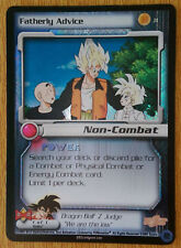 FATHERLY ADVICE [Played] J1 Judge Promo Dragon Ball Z Ccg Tcg Dbz Score