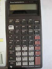 Texas Instruments BA II Plus Advanced Business Analyst Calculator & Manual