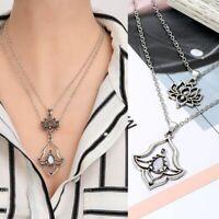 elegante frauen boho - halskette opal multi - layer - kette blumen - anhänger