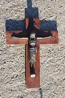 Art Deco Modernist Mid Century Jesus Christ Wall Cross Crucifix