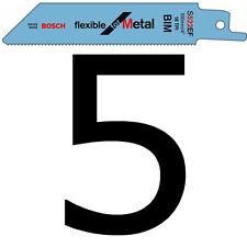 """5 Bosch Sabre Hojas de Sierra con movimiento alternativo S522EF 100mm 4"""" para GSA10.8V Y Metal"""