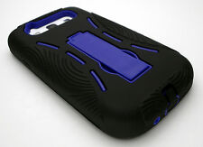 Samsung Galaxy S3 Case Cover Black Blue Hard Impact Kickstand S III 3 SIII