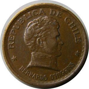 elf Chile 20 Centavos 1950  Liberator Bernardo O'Higgins  Chaucha