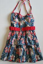 NWT! ABERCROMBIE KIDS Girls Ruffle Floral Summer Dress Pink Blue XL
