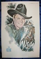 Tom Keene Colorful 11x16 Print from 1973 John Ford Cowboy Kings of Western Fame