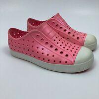 Native Kids Girls Size J2 Jefferson Iridescent Malibu Pink Slip On Water Shoes