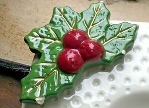 NORA FLEMING Retired Christmas Mini Merry Berries Holly Berry Leaves EC (A40)