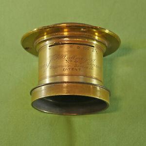 Rare J H Dallmeyer No 4 Stigmatic Series II F6 Lens for Half Whole Plate Camera