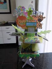 Zoo Animal's Safari Pop up card & stand Personalised Son,Daughter, Grandson Etc