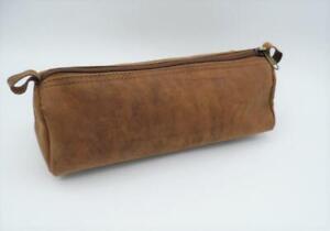 Leather Pencil Case, large leather sloppy case, case, pencil case.