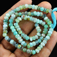 13 Inches Earth Mined Drilled Peruvian Opal Faceted Beads Strand 21.15 Cts