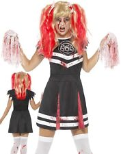 Donna Satana Cheerleader Abito Halloween Sangue Zombie Vestito Smiffys M - Medium