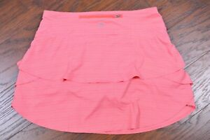 Athleta Dot Stripe Swagger Skirt Skort Pink Women's Medium Tall MT