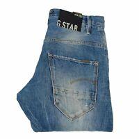 24081 G-Star Arc 3D Loose Tapered Braces Bleu Hommes Jean En Taille 31/32