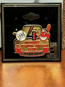 HTF 1998 Cleveland Indians  4th STRAIGHT AL CENTRAL DIV CHAMPIONS PIN