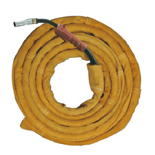 AP-9006 Golden Leather Welding Cable Cover w/ Hook & Loop Closure 11.5' Long