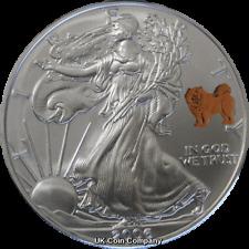 2006 American Eagle Liberty 1oz Silver $1 One Dollar Coin Dog Privy