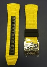 Authentic TechnoMarine Nylon Yellow Strap & Silver Buckle 45mm
