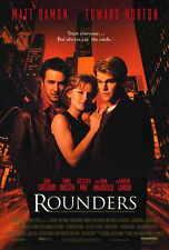 ROUNDERS Movie POSTER 27x40 Matt Damon Edward Norton John Turturro Gretchen Mol