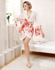 Sexy Japanese Lingerie Robe Kimono Nightdress Nightclub Love Costume Set Cosplay