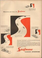 1950's Vintage ad for Saginaw Power Steering`retro Art Cars  (062319)