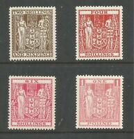 NEW ZEALAND 1940-58 POSTAL FISCALS (4) TO £1 FINE MINT