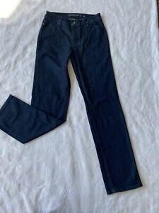 CHRISTOPHER BLUE dark blue jeans size 4 women straight leg