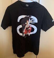 Stussy x Yo! MTV Raps Ice-T Men's Short Sleeve T-Shirt Small Black