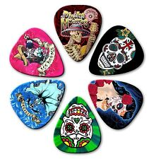 6 SUGAR SKULLS ~ Guitar Picks ~ Plectrums ~Printed Both Sides