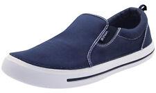 Mens Slip on Canvas Shoes UK Comfy Loafers Casual Deck Plimsoll PUMPS Skate Shoe Blue UK 10 / EU 44