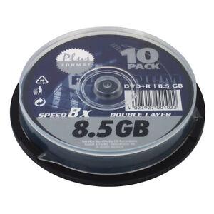PLATINUM DVD+R Rohlinge 8,5 GB Double Layer 8x Speed 10er Spindel Cakebox