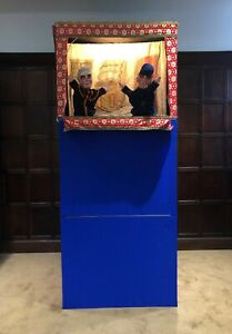 Punch and Judy - collapsible theatre and handmade puppets
