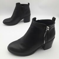 Miso Women's Ankle Boots Bootie with Side Zip Black Size UK 4