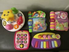 Bundle Of Baby Vtech Toys: Tree, Microphone, Tablet, Spin Toy, 2 Books, Keyboard