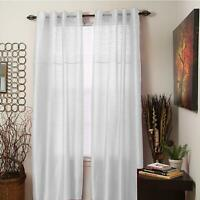 Bedford Home Monica Grommet Curtain Panel, 84-Inch, White