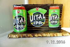 Handmade Rustic Wooden Vital IPA Craft Beer Bar Sign/Shelf With Can2016 Original