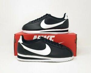 Nike Classic Cortez Leather 'Black White' Women's Sneaker 807471-010