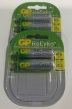 4 x GP Rechargeable AA batteries ReCyko 2000 mAh NiMH 4 Packs of 2