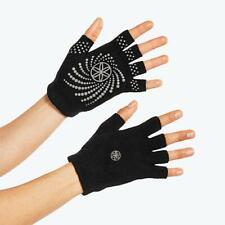 2 Pack Gaiam Grippy Yoga Gloves One Size Black