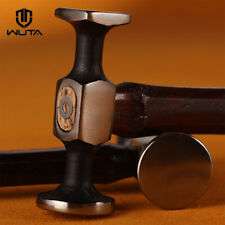 WUTA 1x Leather Craft Hammer Carbon Steel Double Head Hammer Craft Stamping Tool